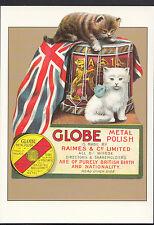 Advertising Postcard - The Globe Metal Polish Series - Robert Opie  Y263