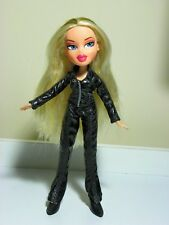 Bratz Very Stylish blonde lady in black pvc pants suit.