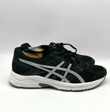 NWT Asics Gel Contend 4 Mens Running Shoes Sneakers Black White Size 8.5 T715N