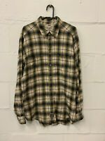 Vintage Levi's Strauss Check Plaid Thick Cotton Long Sleeve Shirt Size L Large