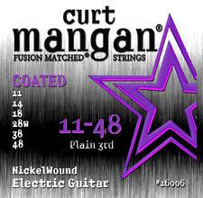 Curt Mangan 11-48 nickel wound enduit de cordes pour guitare électrique