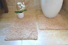 Tappeto da bagno beige 100% Cotone