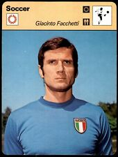 Editions Rencontre Sportscaster Football Card (1977-80) - Giancinto Facchetti