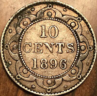 1896 NEWFOUNDLAND SILVER 10 CENTS - Nice example!