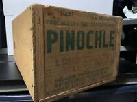 Vintage Pinochle Bartlett Pears Wood Wooden Crate Box Lake County California