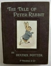 """THE TALE OF PETER RABBIT FIRST TRADE EDITION 1902 BEATRIX POTTER """"WEPT BIG TEARS"""