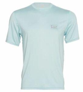 New NWT Men's Billabong Die Cut Short Sleeve Loose Fit Blue Rashguard Size XXL
