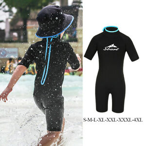 2mm Neoprene Kids Diving Wetsuit Back Zip Wet Suit Surf Diving Suit Swimsuit