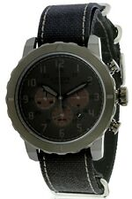 Citizen Eco-Drive Military Chronograph All Black Nylon Mens Watch CA4098-06E
