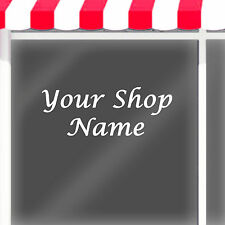 PERSONALISED SHOP NAME VINYL LETTERING DECAL / SHOP WINDOW DECAL / vinyl letters