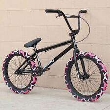 "SUNDAY BIKE BMX PRIMER 20"" BICYCLE BLACK w/ PINK CAMO CULT VANS TIRES"