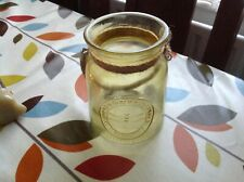 LOVELY LARGE HEAVY  GLASS JAR TEALIGHT HOLDER  IN GOOD CLEAN CONDITION