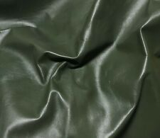 ARMY GREEN Cow Hide Leather HIDE 4 Square Feet