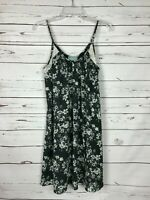 Skies Are Blue Stitch Fix Women's S Small Black Floral Lace Spring Cute Dress