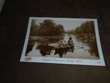 Frith Collection modern Reproduction postcard - Bedford 1921- rowing & bridge