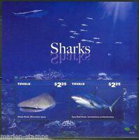 TUVALU  2014 SHARKS  SOUVENIR SHEET   MINT NH