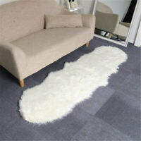190*70CM White/Grey Sheepskin Rug Pelt Wool Fur Mat Chair Cover Floor   3