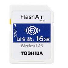 Toshiba FlashAir W-04 WiFi SD 90mb/s 16gb C10 SDHC Wireless LAN Memory Card