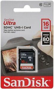 SanDisk Ultra 16GB/32GB/64GB/128GB/256GB SDHC SD Class 10 Full HD Memory Card-UK