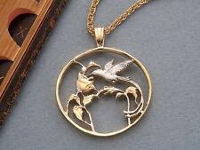 """Hummingbird Pendant & Necklace, Jamacian Hummingbird Coin, 1-1/4"""" ( # 209 )"""