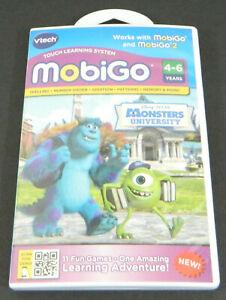 Vtech MobiGo/Mobigo2 Disney Pixar Monsters University Game New Ages 4 - 6 Years