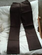 Women's Vintage Compagnie Internationale Express Cotton Spandex Brown Trousers