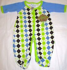 White Footed Sleeper Patterned with Diamonds Duck Duck Goose Size 0-3 Months