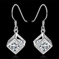 Crystal charm Fashion 925 Silver cute gift women pretty wedding Earring E583