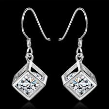 Crystal charm Fashion 925 Silver cute gift women pretty wedding Earring E583