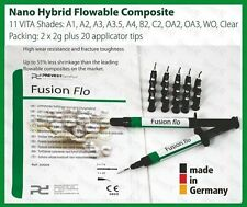 BL Bleach Light Curing Flowable Fine Hybrid Nano Dental Composite 2 x 2g