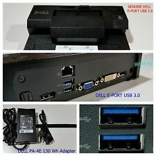 Dell E-Port USB 3.0 Docking Station Replicator PR03X with PA- 4E family adapter.