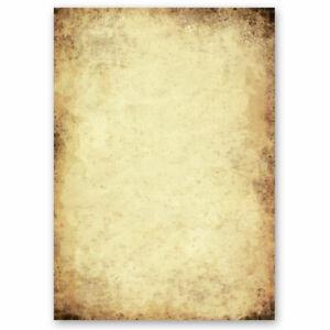 Papier à motif VIEUX PAPIER 50 feuilles DIN A4 Vieux papier Style Ancien