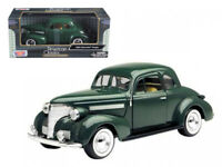 1/24 MOTORMAX 1939 Chevrolet Coupe Diecast Model Car Green 73247