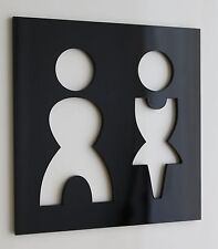 WC Schild Toilettenschild Toilette Schild Klo Damen Herren Plexiglas Neu