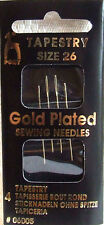 4 Pony Gold Plated Tapestry Needles Size 26 Sewing/Cross Stitch/Embroidery