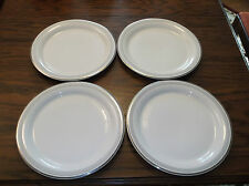 A Beautiful Set of 4  Art Deco Homer Laughlin White Swing  Salad/Luncheon Plates