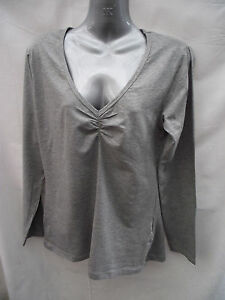 BNWT Womens Sz 16 Very Smart Grey Marle Rivers Brand Long Sleeve Stretch Top