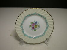 "Minton Ardmore Bread Butter Plate Ivory Turquoise Gold Trim 6"" D ca 1939-1974"