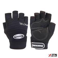 Silverline 172572 Fingerless Gel Comfort Safety Work Gloves Black Large