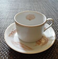 FITZ & FLOYD COQUILLE CUP & SAUCER SHELL
