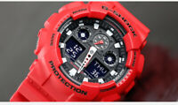 NEW WITH TAG CASIO G-SHOCK GA-100B-4A BLACK/RED DIG-ANA X-LARGE SPORT WATCH