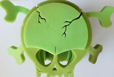 Chris March Big Fun Exclusive Halloween green Foam Skull Wig/mask Project Runway