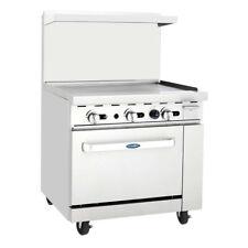 Atosa Usa Agr 36g Ng 36 Gas Restaurant Range 1 Standard Oven 1 Griddle