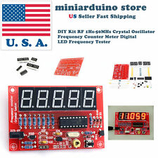 DIY Kit RF 1Hz-50MHz Crystal Oscillator Frequency Counter Meter Digital LED USA