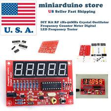 Diy Kit Rf 1hz 50mhz Crystal Oscillator Frequency Counter Meter Digital Led Usa