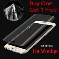 New Samsung Galaxy s6 Edge Curved Full Screen Protector Ultra Clear Strong