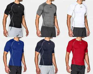 New - Men's UA HeatGear® Armour Short Sleeve Compression Shirt 1257468