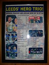 Leeds Rhinos treble 2015 - Sinfield Peacock Leuluai tribute - framed print