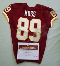 #89 Santana Moss of Redskins NFL Game Used & Unwashed Jersey vs. Chiefs WCOA