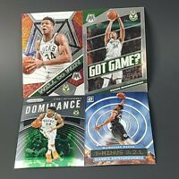4x LOT: Giannis Antetokounmpo Mosaic, Prizm, Donruss Chrome Refractor SP Cards